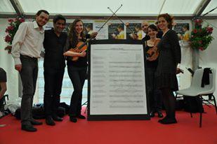 Florian Rebeyrolle, Le quatuor Pacerel et Audrey Weissberg au Salon du Livre de Cosne-sur-Loire (mars 2016)